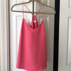 NWT pink, scalloped J.Crew cami